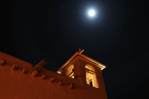 Ranchos de Taos Church, Night