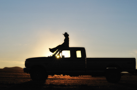 Shayla Martin - Pickup Truck in Sunset Silhouette