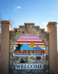Clayton Welcome Sign, New Mexico