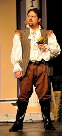 "TJ Mendez as Florindo, ""Servant of Two Masters,"" 2012 Shuler Theater"