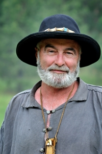 Joe, of Andrews, TX, at Santa Fe Trail Mountain Man Rendezvous, 2012