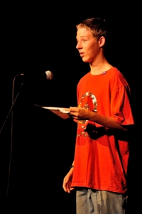 Austin Johnson, Poetry Rocks! Shuler Theater 2012