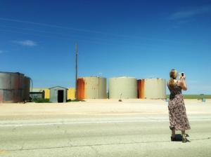 Christina Boyce at Crossroads, New Mexico, 2013