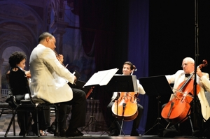 Harlem Quartet with Fred Sherry, Shuler Theater 2013