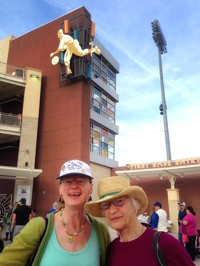Christina & Helen Boyce at Isotopes Park, 2014