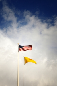 Flags over Raton, New Mexico