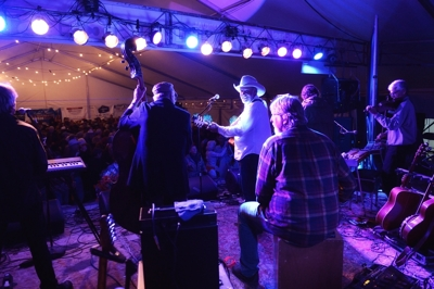 Michael Hearne & South by Southwest at Taos Barndance 2014, by Tim Keller
