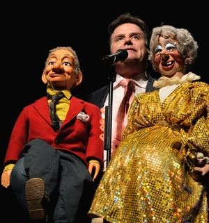 Ventriloquist Todd Oliver with Pops and Miss Lilly