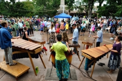 Polyphony Marimba on the Santa Fe Plaza