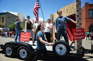 Shuler Theater & Two Pigs Productions in Raton 4th of July Parade, 2015