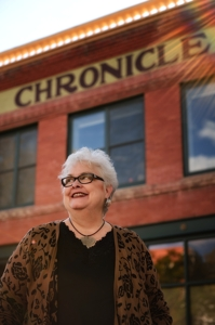 Cathy Moser, features editor at The Chronicle-News, by Tim Keller