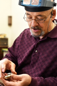 Joe Spicola at work, Anthony's Jewelers, Raton NM