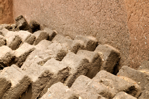 Adobe bricks, Fort Garland, Colorado