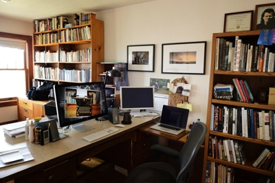 Tim Keller's office studio, Raton NM