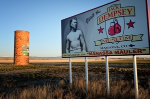 Jack Dempsey billboard, San Luis Valley, Colorado 2016