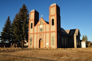 Our Lady of Guadalupe, Conejos, Colorado, in San Luis Valley, Colorado's oldest church