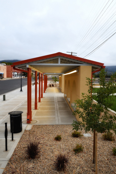Multi-modal center at depot on historic First Street, downtown Raton, New Mexico, by Tim Keller