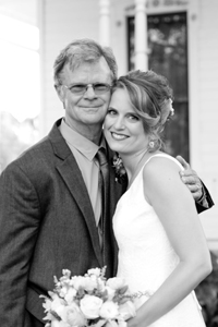 Tim Keller and daughter Darcy Day Keller at her Austin wedding, photo by Carli Rene, Inked Fingers