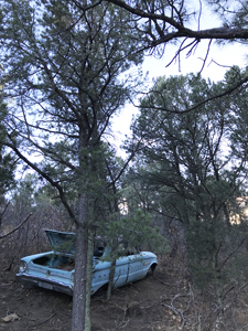 1963 Ford Falcon Futura abandoned above Climax Canyon, Raton NM