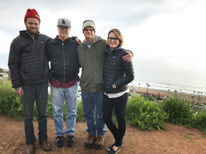 Killian Keller, Terry Keller, Tim Keller, Darcy Day Keller on Pacific Palisades bluffs