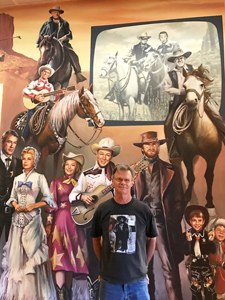 Tim Keller at the Autry Museum of the American West, mural