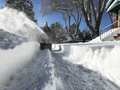 Snowblower - Tim Keller, home in Raton NM