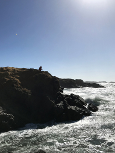 Glass Beach at California's Fort Bragg, Mendocino coasty