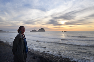 Christina Boyce at Del Norte coast sunset