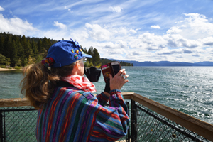 Christina Boyce at Kings Beach, Lake Tahoe