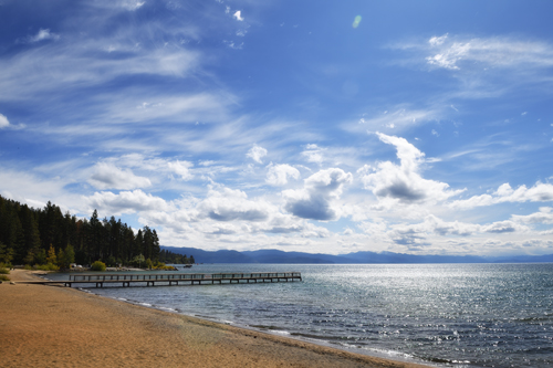 Lake Tahoe shore from Kings Beach