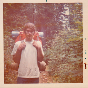 Terry Randall Keller backpacking up Redwood Creek, 1972