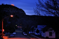 Raton neighborhood at night, under Goat Hill