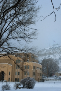 Old Courthouse & Goat Hill in Winter