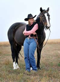 Brittany Rouse, horse trainer photograph by Tim Keller
