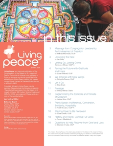 Living Peace Magazine with Tim Keller photography